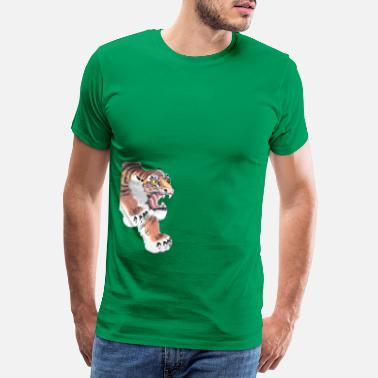 Leap Tiger leaping - Men's Premium T-Shirt