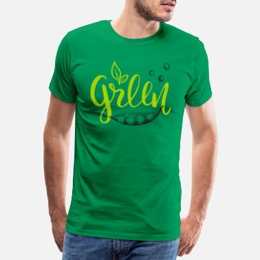 Green Bay Packers Green Peas vegan design with pea pod - Men's Premium T-Shirt