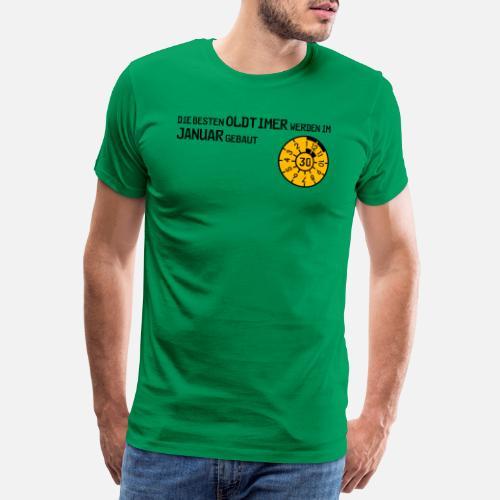 Auto Prufplakette Januar 30 Hu Geburtstag Manner Premium T Shirt