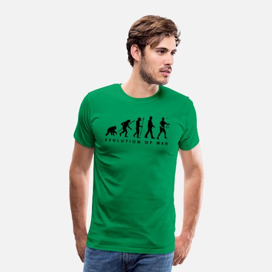 Bats T-Shirts - badminton_evolution_02__b_1c - Men's Premium T-Shirt kelly green