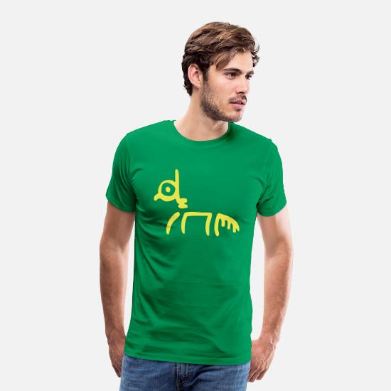 Animals T-Shirts - Tribal Horse by Cheerful Madness!! - Men's Premium T-Shirt kelly green