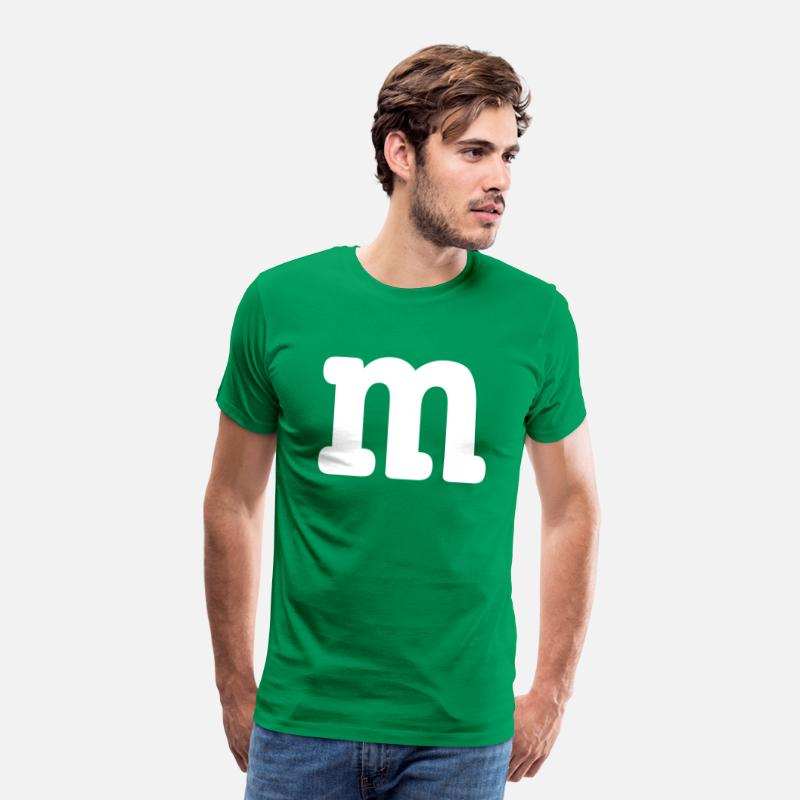 Blauw T-Shirts - MM Costume Group Costume Carnival Carnival - Mannen premium T-shirt kelly groen