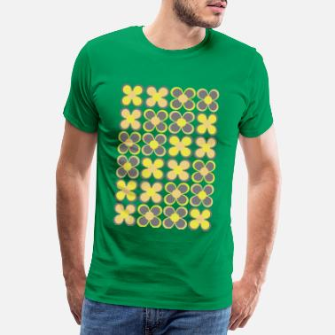 Colorful 70s 70s Floral  - Men's Premium T-Shirt
