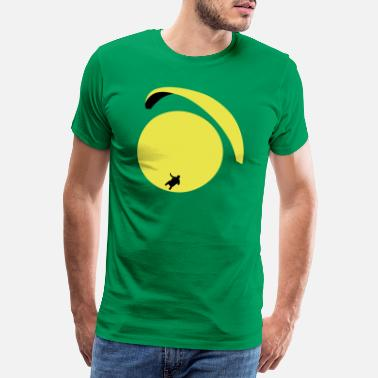 Glidskärm paraglider_in_the_sun - Premium T-shirt herr