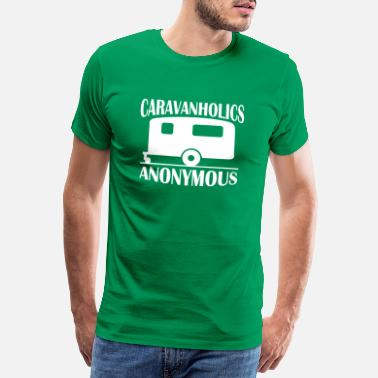 CARAVAN T-SHIRT Mens Funny Caravanning Mobile Home Campervan Top Symptoms Top
