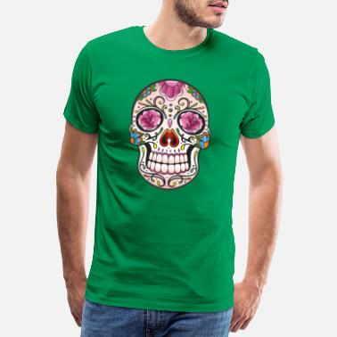 Day Of The Dead Traditionell mexikansk skalle - Premium T-shirt herr