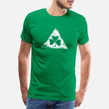 St Patricks Day like a irish st. patricks day hipster triangle - Men's Premium T-Shirt