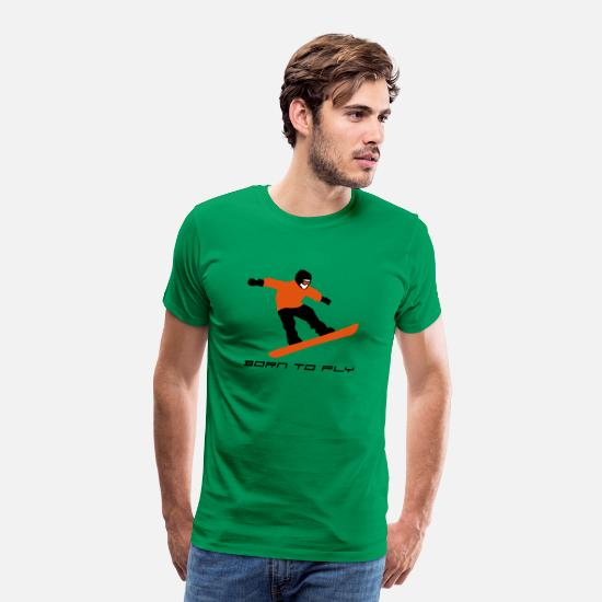 Fly T-Shirts - snowboard_a_3c - Men's Premium T-Shirt kelly green