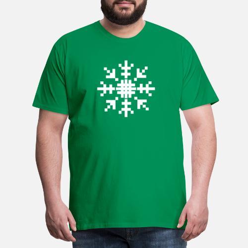 8bit Pixel Hiver Flocon De Neige De Noël T Shirt Premium Homme