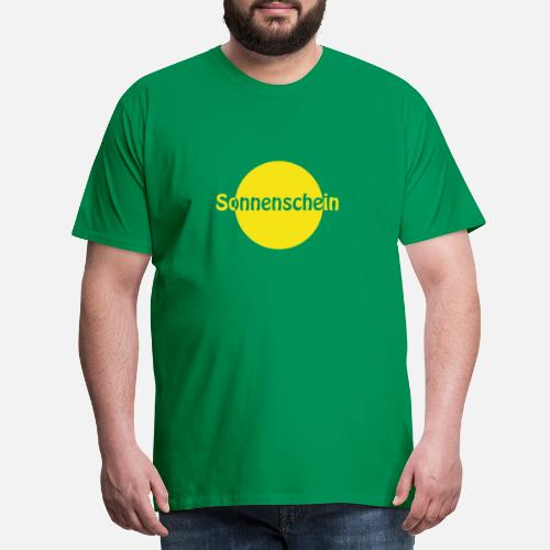 Sonnenschein Sonne Gelb Männer Premium T Shirt Spreadshirt