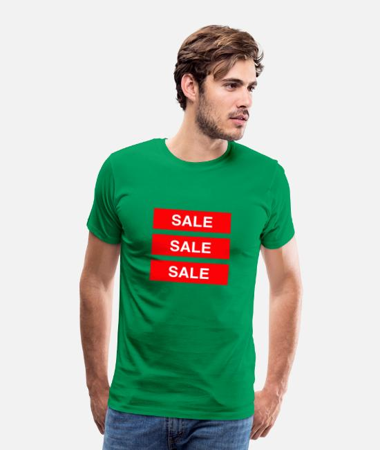 Sale T-Shirts - Sale Sale Sale - Coloured - Men's Premium T-Shirt kelly green