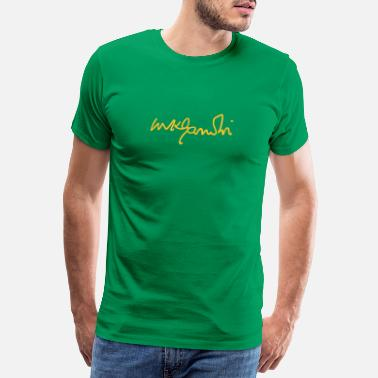 India gandhi signature - Men's Premium T-Shirt