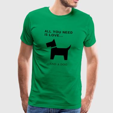 cute little funny dog ​​design - Men's Premium T-Shirt