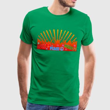 Peace Love Music Logo - Herre premium T-shirt