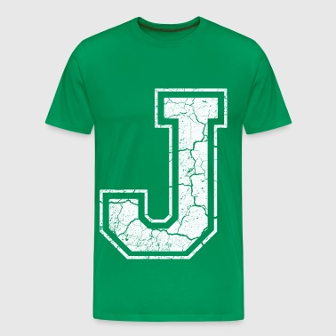 Letter J in white in the used look T-Shirts - Men's Premium T-Shirt
