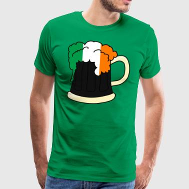 Irish Beer Mug Flag of Ireland idea regalo - Maglietta Premium da uomo