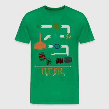 The path of the beer in color  - Men's Premium T-Shirt