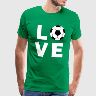 I Love Football - Premium T-skjorte for menn