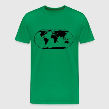 World Map - Men's Premium T-Shirt