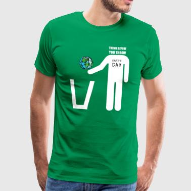 Earth Day het belang van recycling - Mannen Premium T-shirt