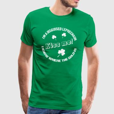 Funny Irish T-Shirt for disguised Leprechauns - Männer Premium T-Shirt
