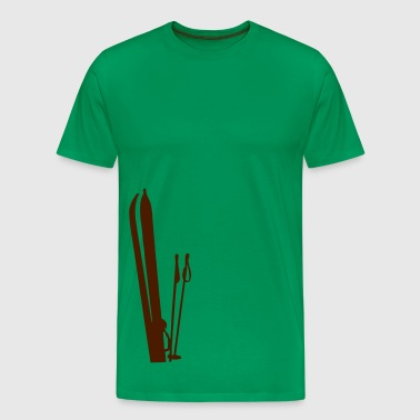 Old wooden skis Ski T-shirt  - Men's Premium T-Shirt