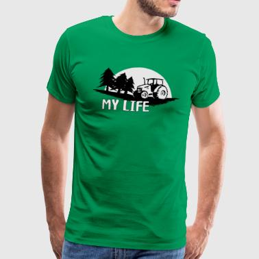 my life my tractor my life agriculture - Men's Premium T-Shirt