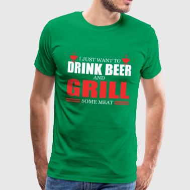 Grill some meat - Men's Premium T-Shirt
