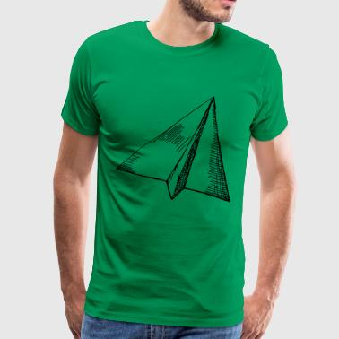 Paper Airplanes - Flying - Premium T-skjorte for menn