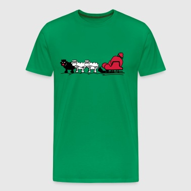 Christmas sleigh - Men's Premium T-Shirt