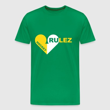 Hockey rulez 2-colours - Men's Premium T-Shirt