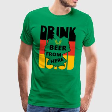 Retro German Flag. Drink Beer from here Gifts. - Men's Premium T-Shirt