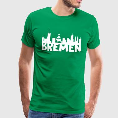 Bremen skyline - Men's Premium T-Shirt