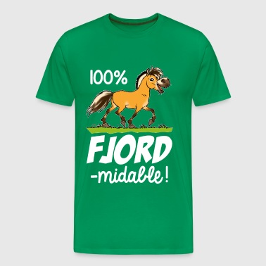 Cheval fjord fjord'midable (texte blanc) - T-shirt Premium Homme