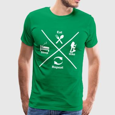 hiking mountaineering in nature gift idea - Men's Premium T-Shirt