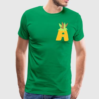 Letter A Pineapple - Men's Premium T-Shirt