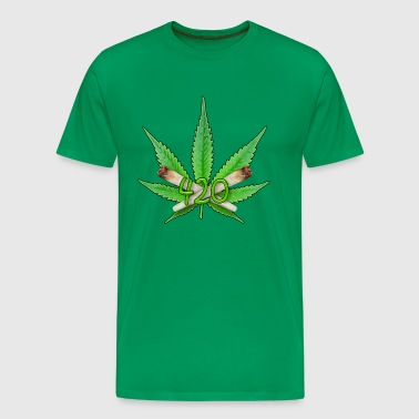 Weed Leaf 420 - Men's Premium T-Shirt