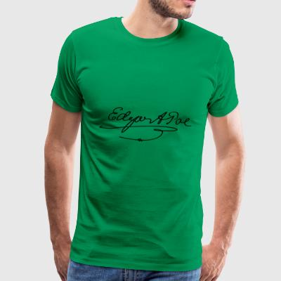 Edgar Allan Poe Signature - Men's Premium T-Shirt