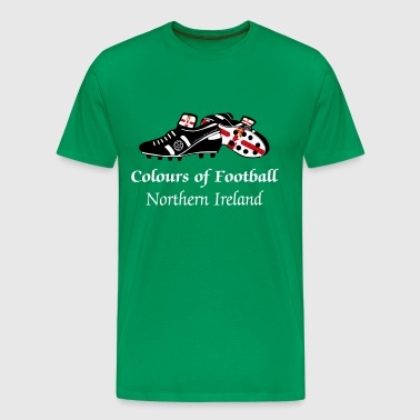Northern Ireland_colours_of_football - Men's Premium T-Shirt
