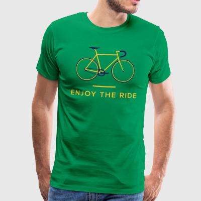 Nyd The Ride Retro Cycling T-Shirt - Herre premium T-shirt