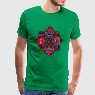 Maya masks - Men's Premium T-Shirt