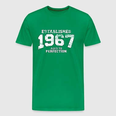 established 1967 - aged to perfection (sv) - Premium-T-shirt herr