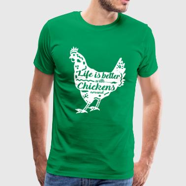 Chicken chickens rooster henhouse farmer farmer eggs - Men's Premium T-Shirt