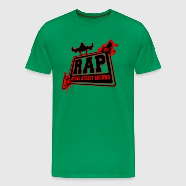 rap sound street record - Men's Premium T-Shirt