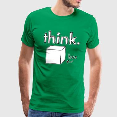 Think Outside the Box Illustration - T-shirt Premium Homme