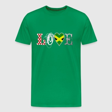 Love Jamaika White - Men's Premium T-Shirt