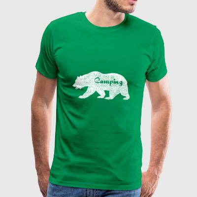 Camping Bear. Wildlife. Gifts for family & friends - Men's Premium T-Shirt