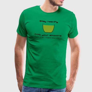 Soylent Green Smoothie - Black Text - Men's Premium T-Shirt