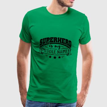 Superhero my name - Men's Premium T-Shirt