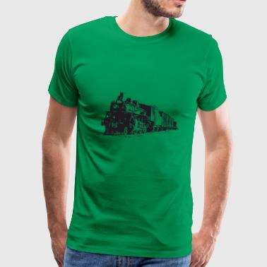 Vintage Train - Men's Premium T-Shirt